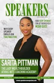 Sarita Pittman feature on Speakers Magazine