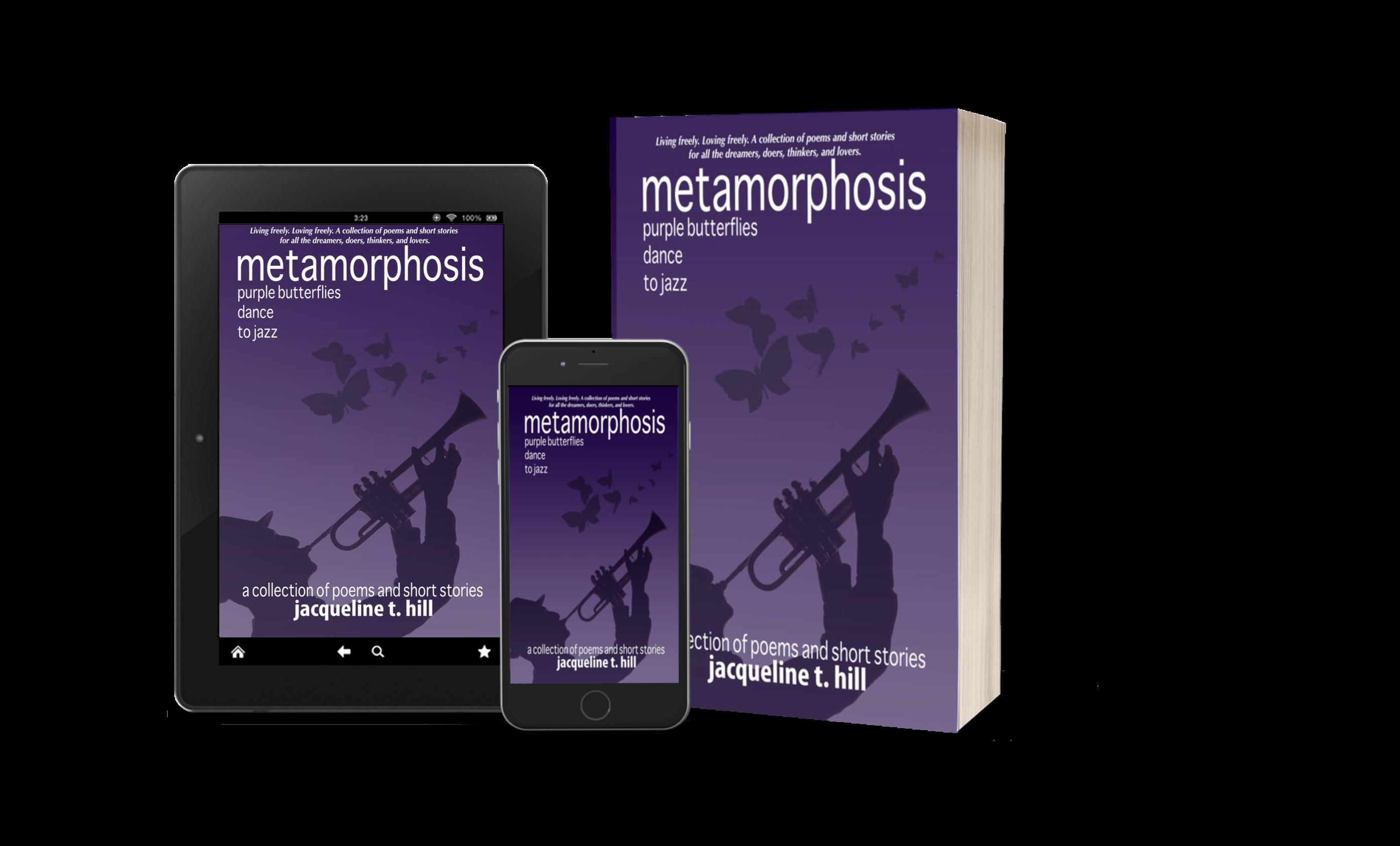 Metamorphosis: Purple Butterflies Dance To Jazz by Jacqueline T. Hill
